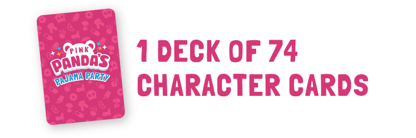 1 deck of 74 character cards