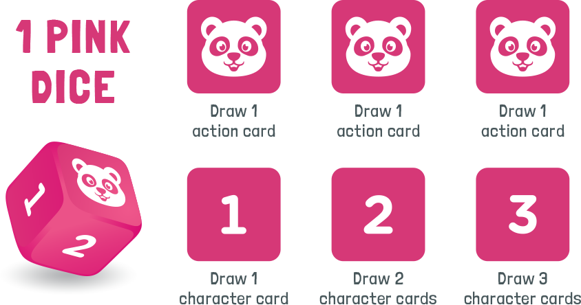 1 pink dice