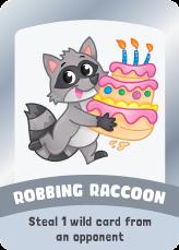robbing raccoon